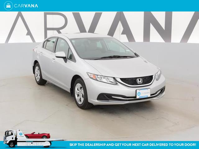SILVER 2015 Civic with 8805 Miles for sale at Carvana